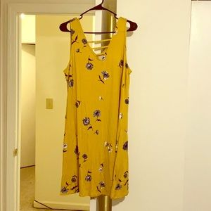Maurice's Lattice Floral Swing Dress in Yellow
